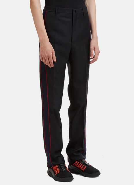 D8 Contrast Striped Twill Panel Pants