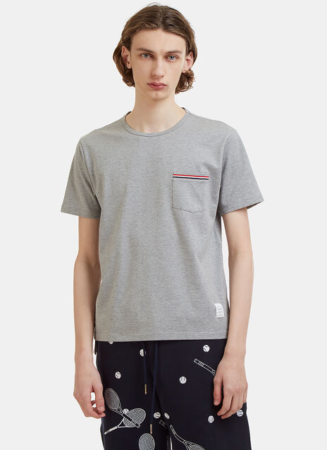 Thom Browne Patch Pocket Cotton-Jersey T-Shirt