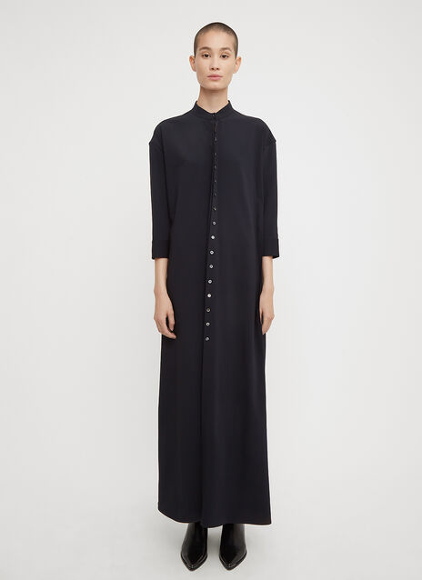 Jil Sander Button Pleat Shirt Dress