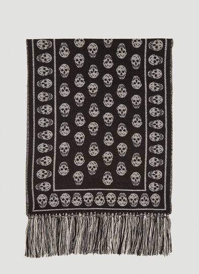 알렉산더 맥퀸 Alexander McQueen Upside Down Scarf in Black