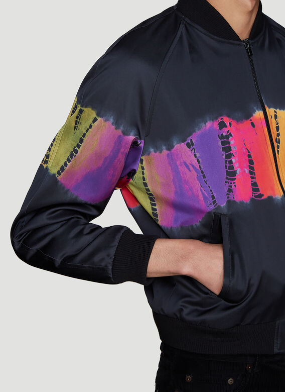 Saint laurent Tie-Dye Bomber Jacket