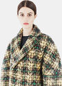 Gauchère Gwen Tweed Quilted Zigzag Coat