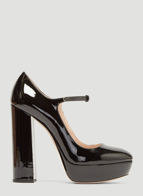 Miu Miu Patent Leather Mary Jane Platform Pumps