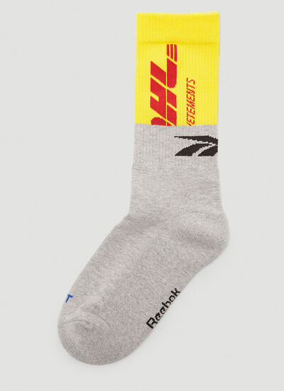 Vetements DHL Contrast-Logo Socks
