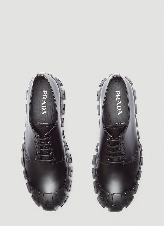 Prada Brushed Leather Derby Shoes 2