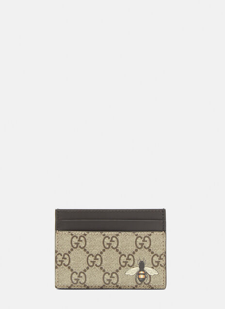Gucci GG Bee Motif Card Case