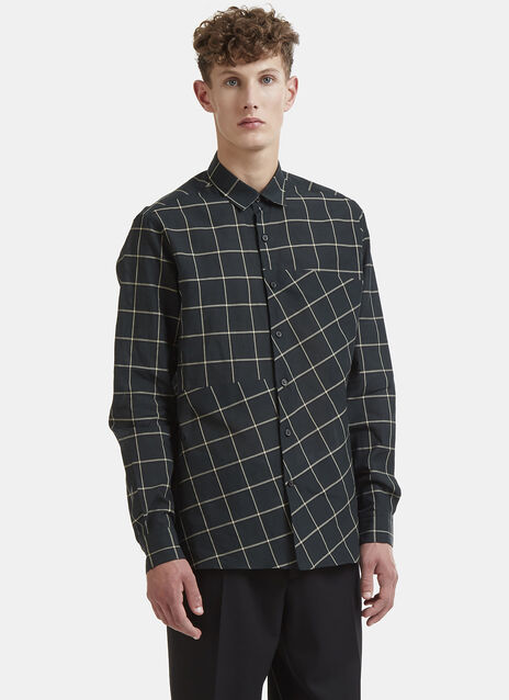 Lanvin Asymmetrical Checked Shirt
