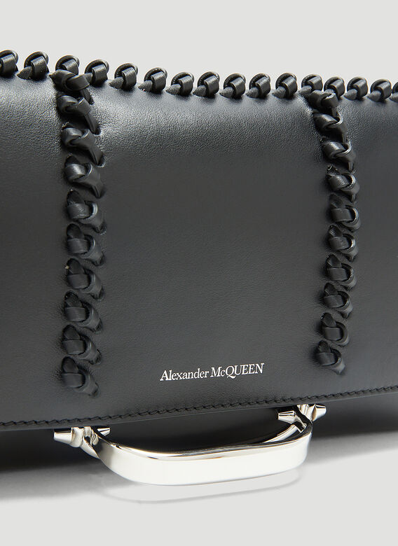ALEXANDER MCQUEEN Leathers The Story Small Leather Shoulder Bag in Black