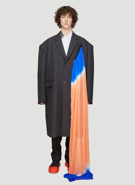 Raf Simons Extreme Oversized Zipper Coat