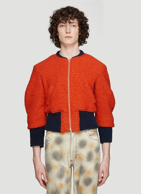 Eckhaus Latta Cropped Bomber Jacket