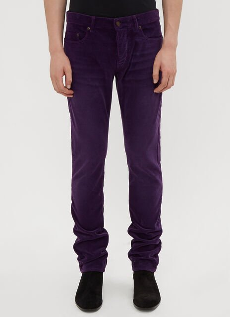 Saint Laurent Slim-Fit Corduroy Pants