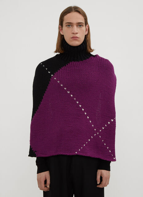 Raf Simons Turtle Neck Backless Knit Sweater