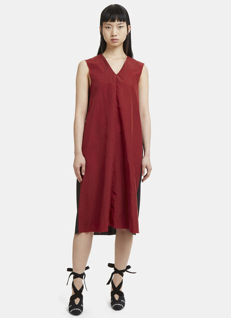 Yang Li Sleeveless Contrast Raw Edge Dress