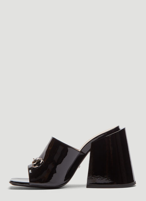 b25d068ab91 click to zoom. Gucci Patent Leather High-Heel Slide