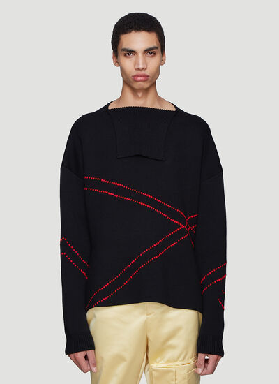Raf Simons Loose Collar Stitch Sweater