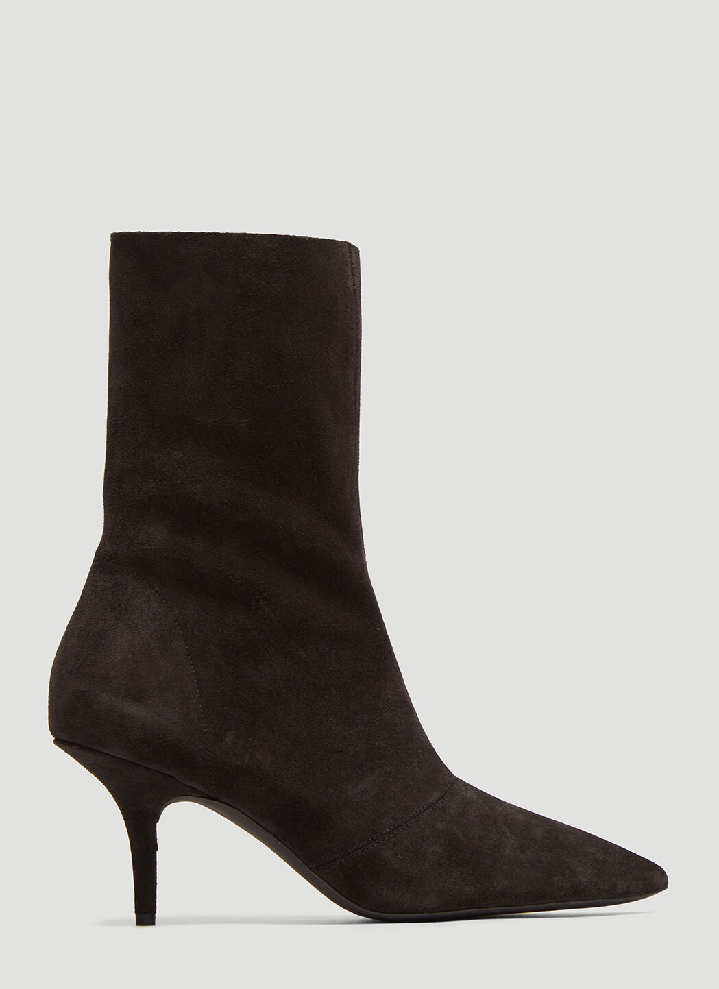 Yeezy Suede Ankle Boots in Black