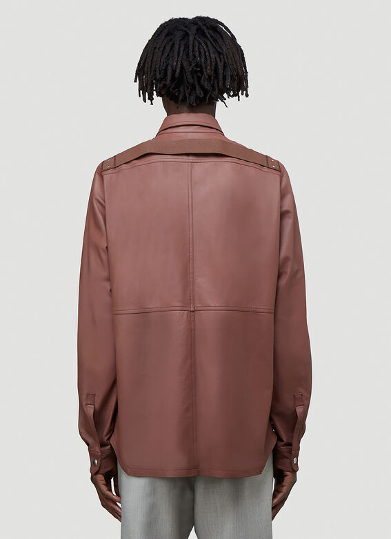 Rick Owens OUTER SHIRT LEATHER 4