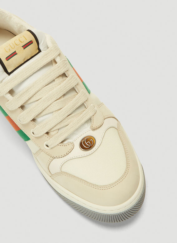 Gucci SCREENER TRAINERS NYLON AND LEATHER 5