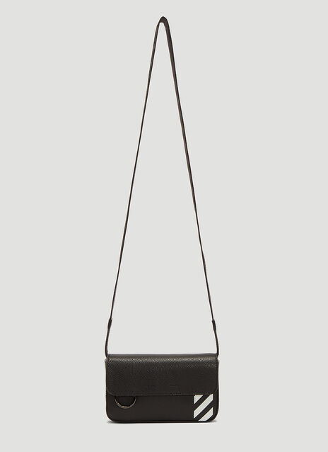 Off-White Stripe Leather Crossbody Bag