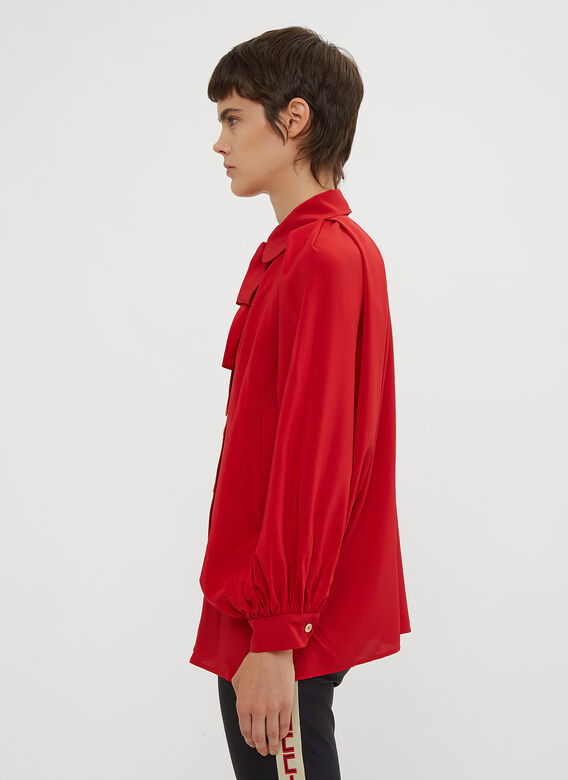 Gucci Neck Bow Shirt