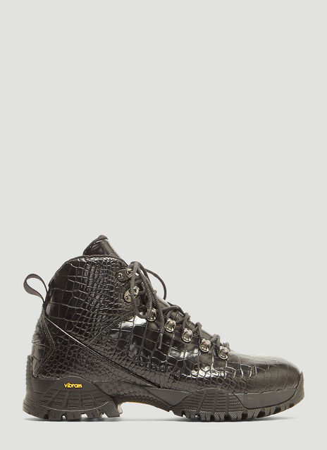 1017 ALYX 9SM Crocodile Hiking Boots