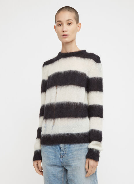 Saint Laurent Striped Loose Knit Jumper
