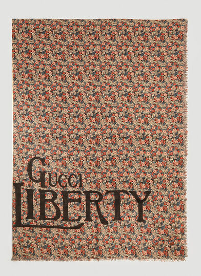 구찌 스카프 Gucci Liberty Scarf in Black