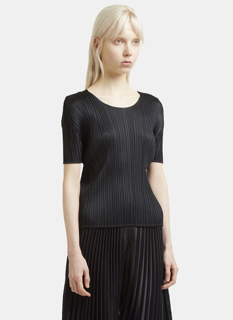 Pleats Please Issey Miyake Pleated Short Sleeved T-Shirt
