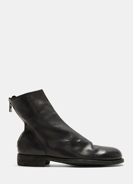 Guidi Full Grain Zip-Up Leather Ankle Boots