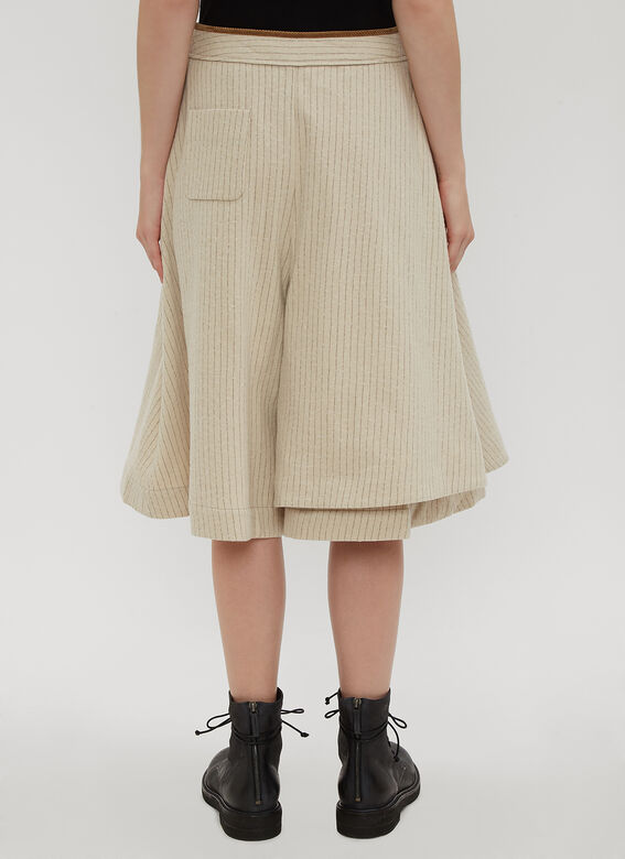 Renli Su Striped Wrap-over Shorts
