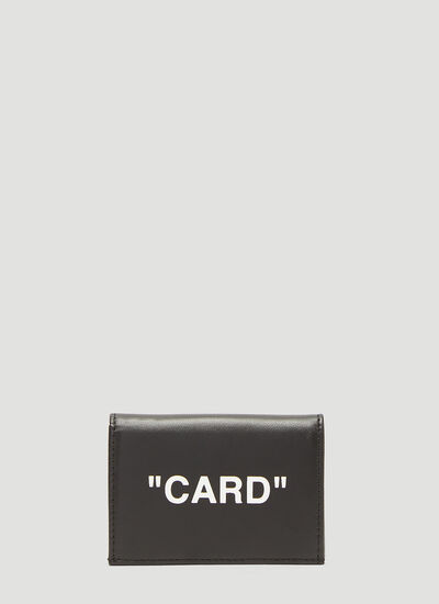 Off-White Flap 'Card' Wallet