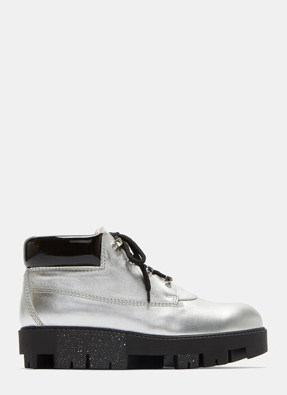 Image of Tinne Bubble Metallic Ankle Boots