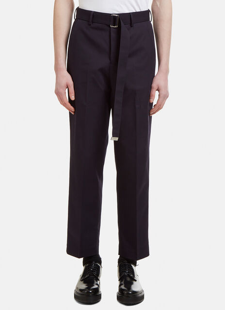 Ami Wide Leg Trousers with Belt