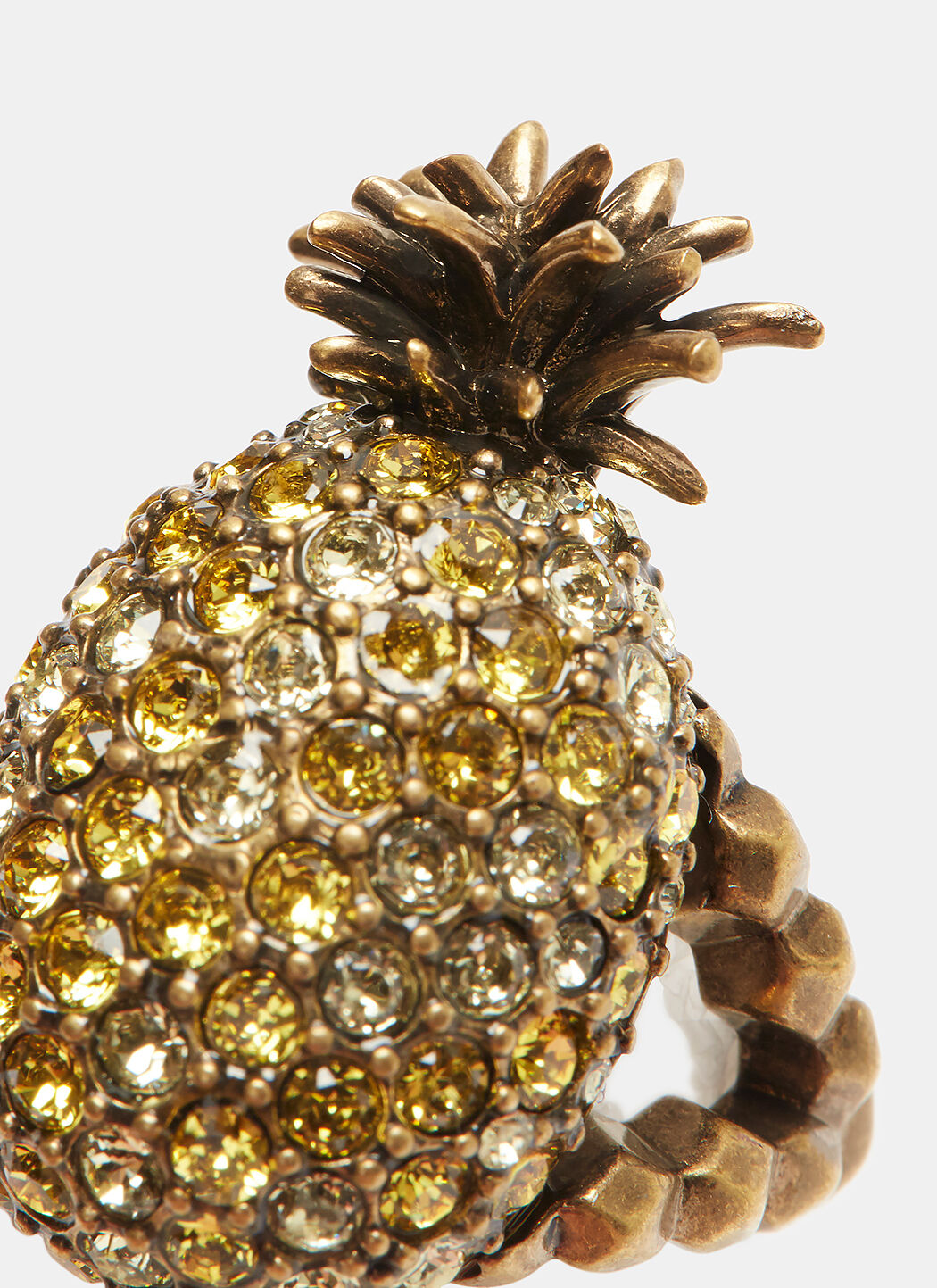 Gucci Crystal studded pineapple ring in metal JlwreOKm