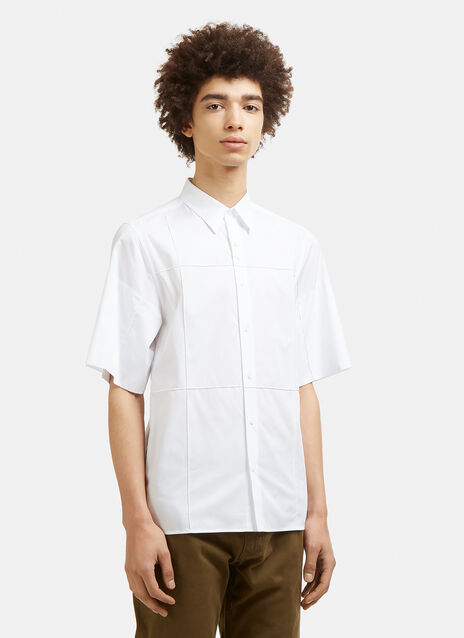 Wales Bonner Short Sleeve Creased Cotton Shirt