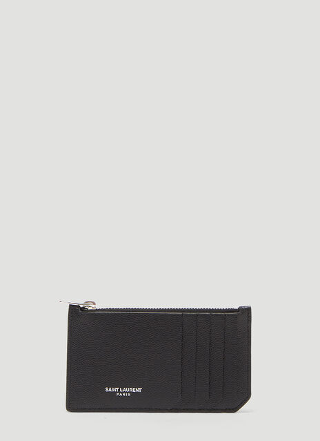 Saint Laurent 5 Card Zip Wallet