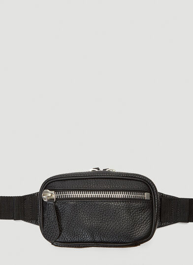 메종 마르지엘라 벨트백 Maison Margiela Zipped Leather Belt Bag in Black