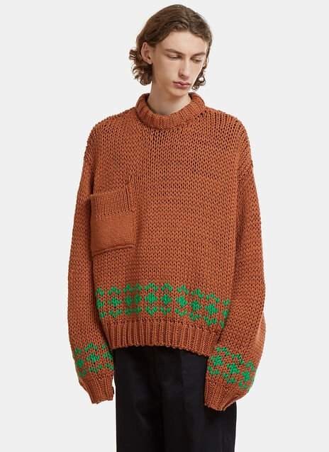 Oversized Disturbed Knit Sweater