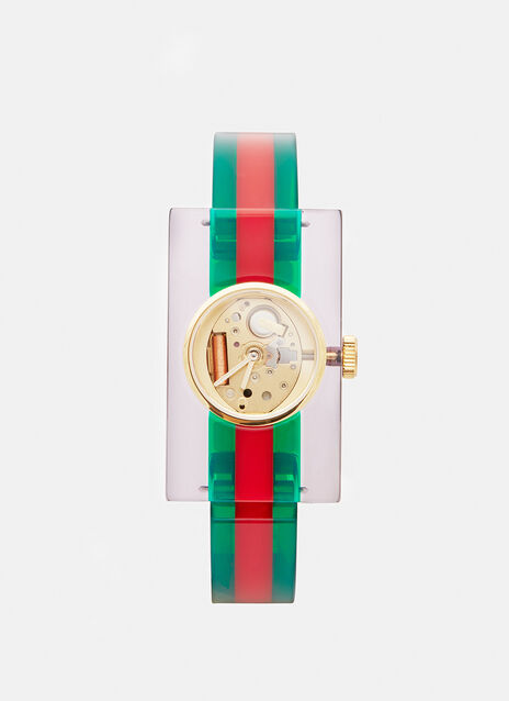 Gucci Striped Plexiglass Watch