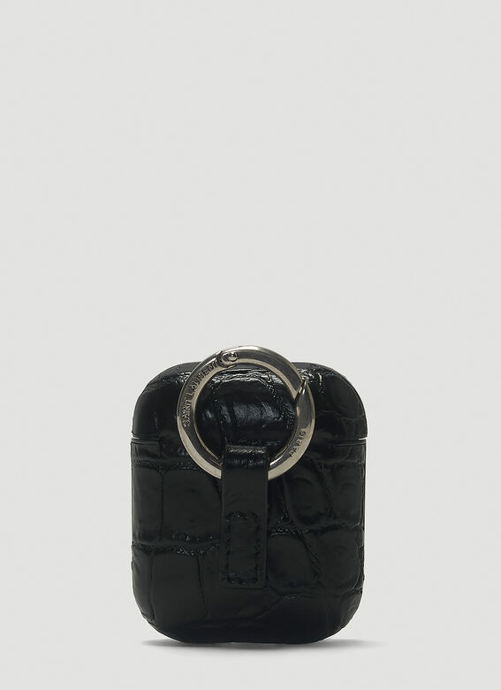 Saint Laurent Embossed Leather AirPods Case 2