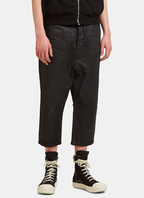 Treated Cropped Leg Jeans