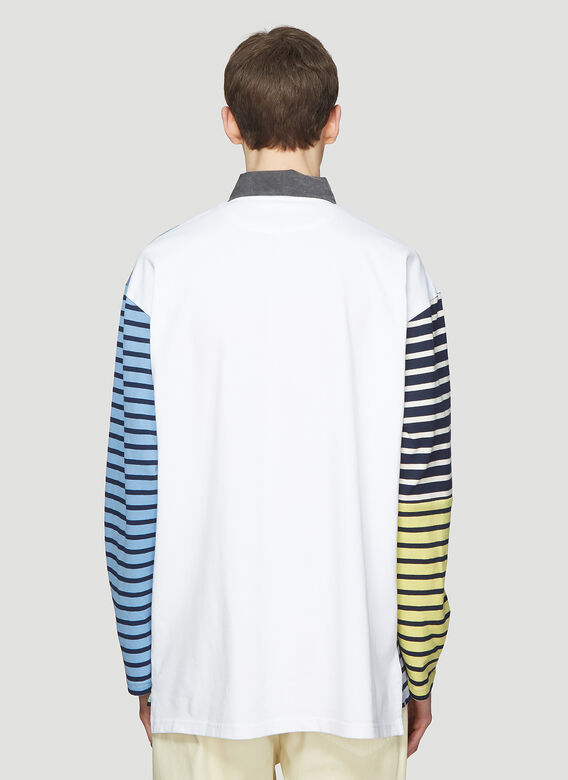 012f1e2e JW Anderson Patchwork Rugby Polo Shirt in Blue | LN-CC