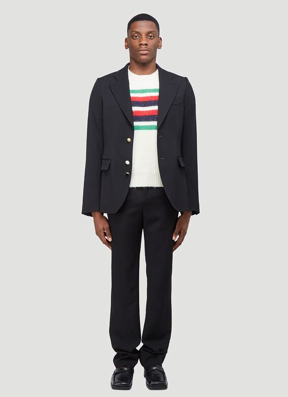 Gucci KNIT WITH RED GREEN NAVY STRIPE 2
