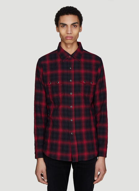 Saint laurent Western Check Print Shirt