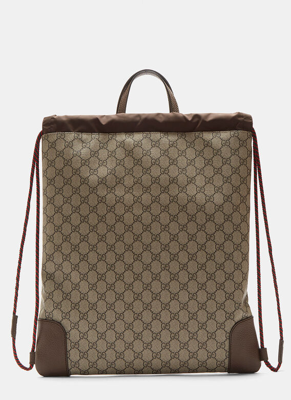 232cc7a6ae58 Gucci Gucci Courier GG Supreme Drawstring Backpack