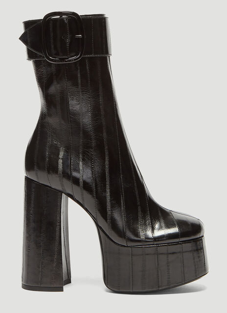 Saint Laurent Billy Platform Eel Skin Boots