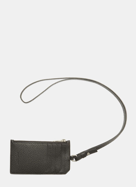 Saint Laurent Milo Grained Card Holder