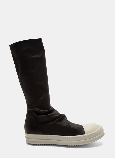 Rick Owens Long Leather Sock Sneakers