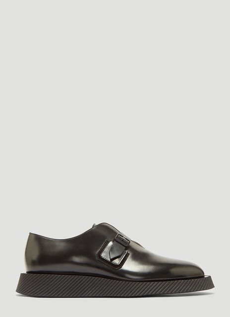 Jil Sander Leather Monkstrap Derby Shoes
