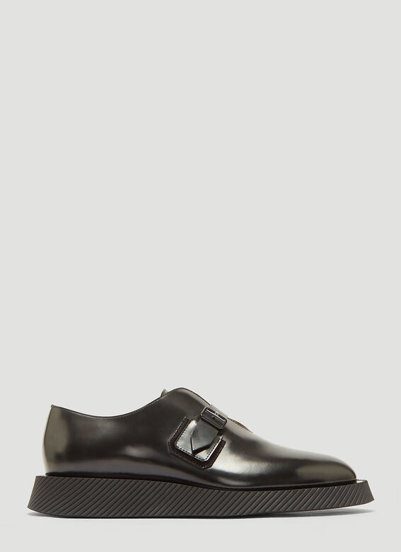 397ee937e6f7 click to zoom. Jil Sander Leather Monkstrap Derby Shoes